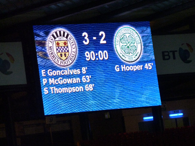 St. Mirren FC - Celtic Glasgow, Hampden Park, League Cup, 27/01/2013